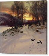 When The West With Evening Glows Canvas Print