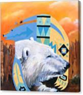 White Bear Goes Southwest Canvas Print