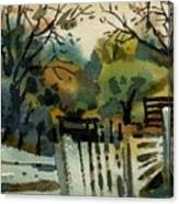 White Fence Canvas Print