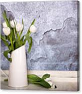 White Tulips Canvas Print