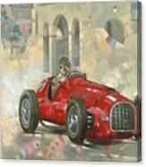 Whitehead's Ferrari Passing The Pavillion - Jersey Canvas Print