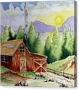 Wilderness Cabin Canvas Print