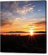 Willard Bay Sunset Canvas Print