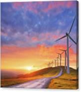 wind turbines in Oiz eolic park Canvas Print
