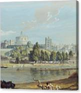 Windsor Castle From The Eton Shore Canvas Print