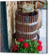 Wine And Geraniums Canvas Print