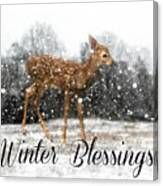 Winter Blessings Canvas Print