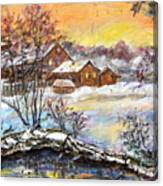 Winter Evening. Canvas Print