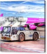 Wizz Air Airbus A321 Canvas Print