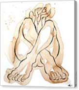 Woman 14  From When De Body Talk Collection Canvas Print