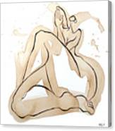 Woman 15  From When De Body Talk Collection Canvas Print