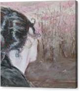 Woman Looking Over The Street Canvas Print