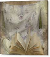 Woman With A Book Canvas Print
