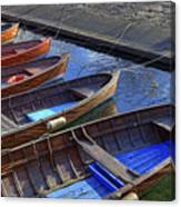 Wooden Boats Canvas Print