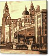 World Famous Three Graces Canvas Print