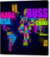 World map in words canvas print canvas art by michael tompsett world map in words canvas print gumiabroncs Choice Image