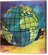 World Displayed Canvas Print