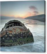 Wreck Of Laura - Filey Bay - North Yorkshire Canvas Print