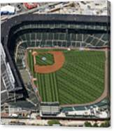 Wrigley Field In Chicago Aerial Photo Canvas Print