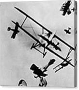 Wwi: Dogfight Canvas Print