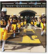 Wyoming Cowboys Entering The Field Canvas Print