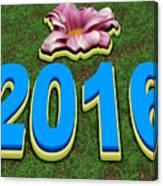 Year 2016 Canvas Print