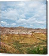 Yellow Mounds Of Badlands Np Canvas Print