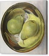 Yin Yang Pears Canvas Print