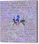 Yoga Asanas / Poses Sanskrit Word Art  Canvas Print