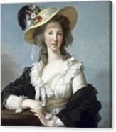 Yolande-martine-gabrielle De Polastron Duchesse De Polignac Lisabeth Louise Vige Le Brun Canvas Print