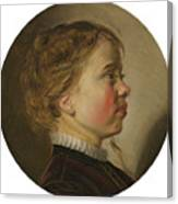 Young Boy In Profile Canvas Print