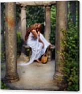 Young Woman As A Classical Woman Of Ancient Egypt Rome Or Greece Canvas Print