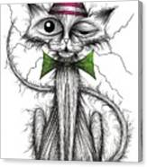 Zippy Cat Canvas Print