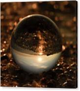 10-17-16--8585 The Moon, Don't Drop The Crystal Ball, Crystal Ball Photography Canvas Print