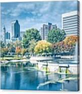 Charlotte North Carolina Cityscape During Autumn Season Canvas Print