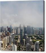 Chicago Skyline Aerial Photo Canvas Print
