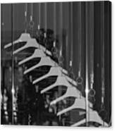 10 Hangers In Black And White Canvas Print