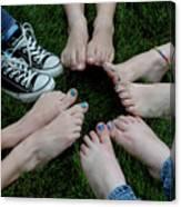 10 Kids Feet Canvas Print