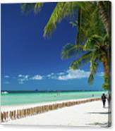 Main Beach Of Tropical Paradise Boracay Island Philippines Canvas Print