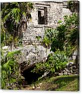 Mayan Temples At Tulum, Mexico Canvas Print