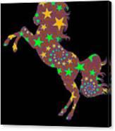 Rainbow Spiral Star Unicorn Design Poop Emoji Canvas Print