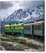 Scenic Train From Skagway To White Pass Alaska Canvas Print