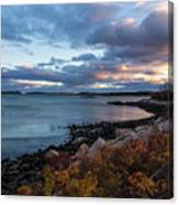 Sunset Down East Maine Canvas Print