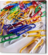 100 Paperclips Canvas Print