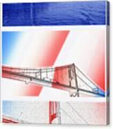 1000 Island International Bridge Triptych Canvas Print