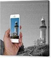 1000 Words-byron Bay Lighthouse Canvas Print