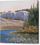 100409-1224  Rocky Creek Reflections Canvas Print