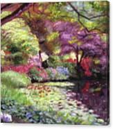 Water Lily Lake Canvas Print