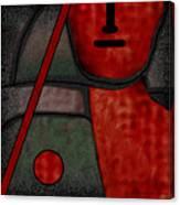 109  Minimalist Portrait .v.. Canvas Print