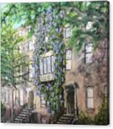 10th Street Wisteria Canvas Print